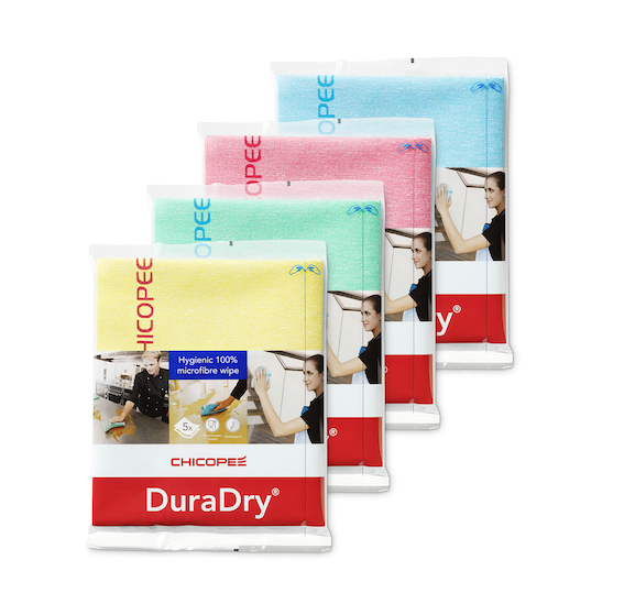 Duradry antibacteriele, food contact safe micorvezeldoek